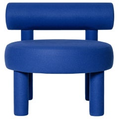 Blue Velvet Gropius Low Chair by NOOM