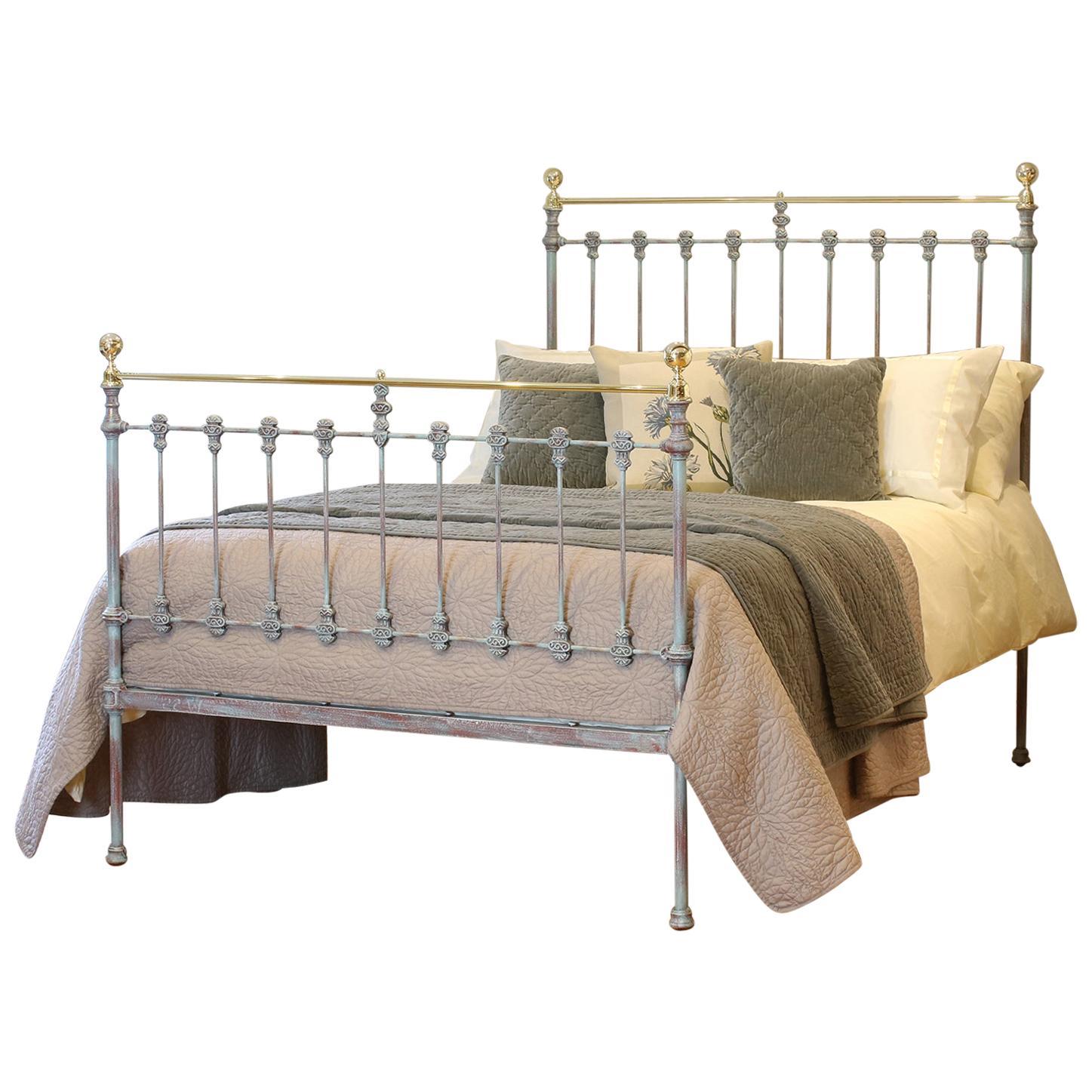 Blue Verdigris Double Antique Bed, MD96
