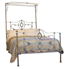 Blue Verdigris Half Tester Bed, M4P28