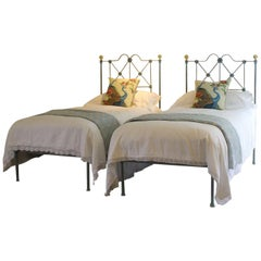 Blue Verdigris Platform Twin Beds, MPS28