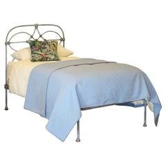 Blue Verdigris Victorian Antique Single Bed MS46