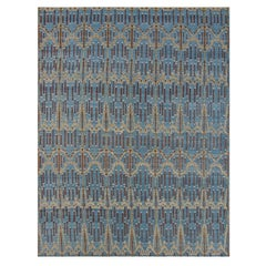 Blue Victoria Hand-Knotted Wool Rug