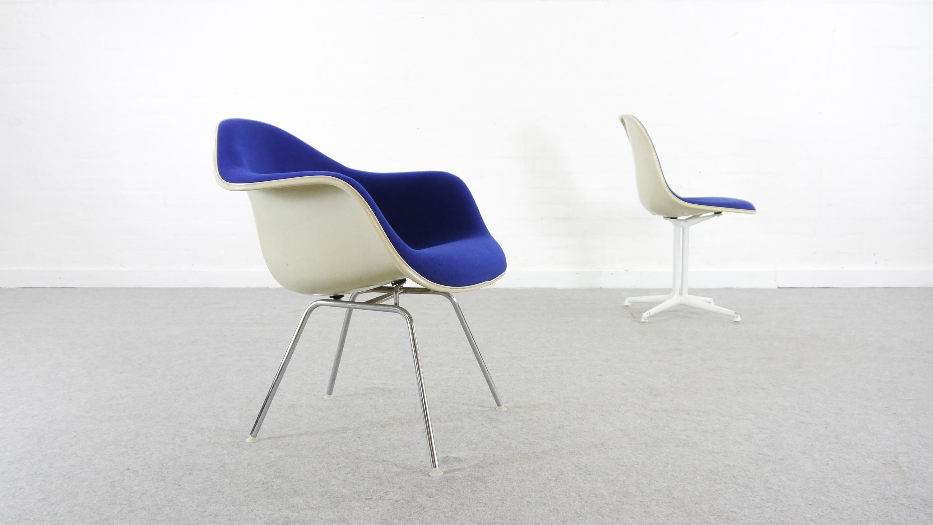 Armchair Base Charles By Miller1970s Vintage With Blue H Low For Herman Eames 0w8OPkn
