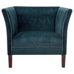 Blue Vintage Club Chair After Renovation