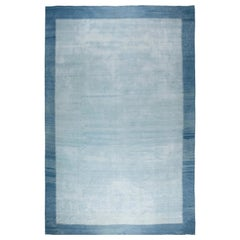 Blue Vintage Indian Dhurrie Rug
