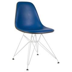 Blue Vinyl Herman Miller Original Vintage Eames DSR Side Shell Chair
