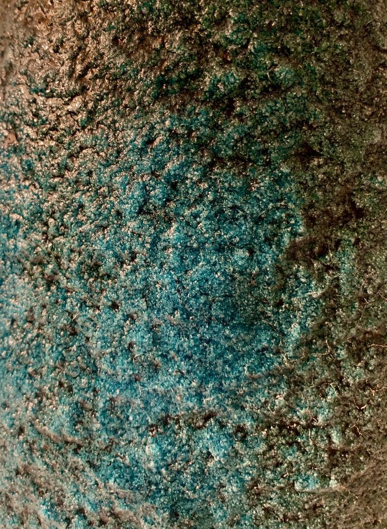 Blue Volcanic Glazed Vase For Sale 5