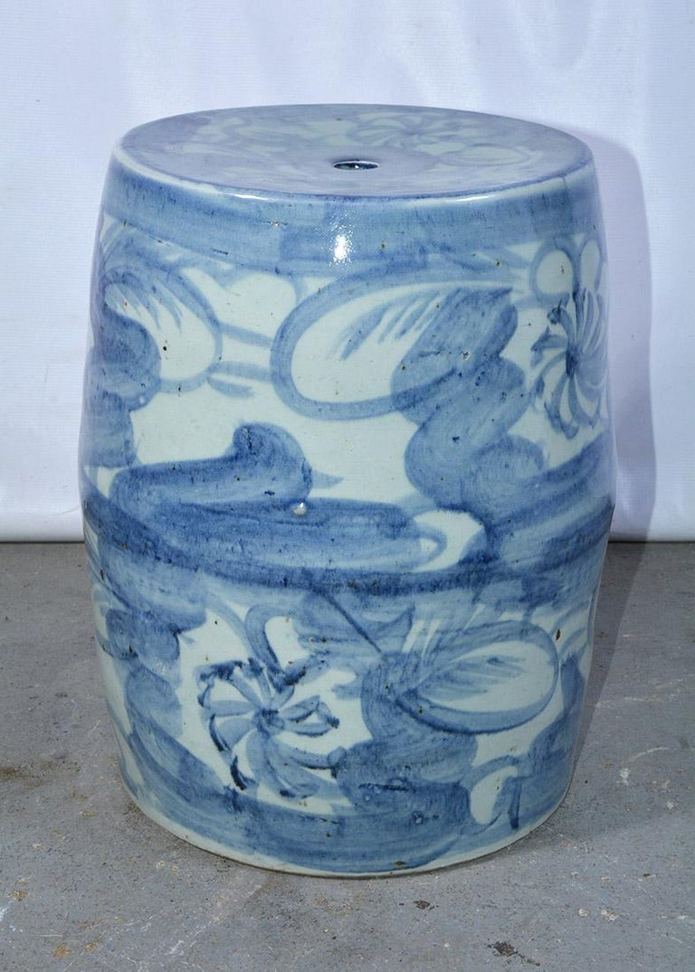 Chinese Export Blue White Chinese Garden Seat or Table For Sale