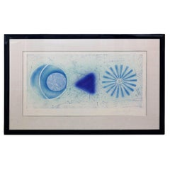 Blue & White J. Rosenquist Signed & Numbered Photo-Etching Aquatint, Rinse, 1978