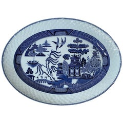 Blue Willow Porcelain Charger by T.C. Brown-Westhead Moore & Co., circa 1870s