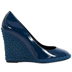Yves Saint Laurent Blue Majorelle Wedges