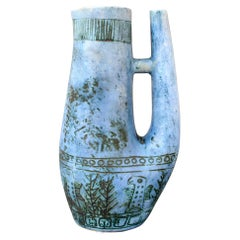 Blue Zoomorphic Ceramic Mid-Century French Vase by Jacques Blin 'circa 1950s'