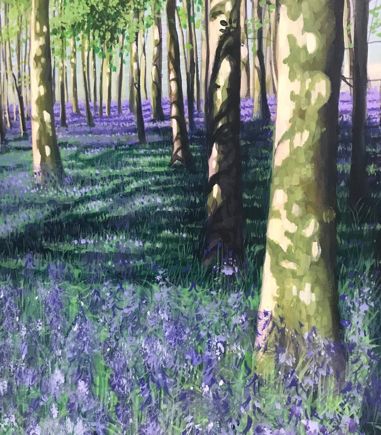 Other Bluebell Howe Wood Contemporary Landscape Painting For Sale