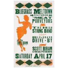Bluegrass Meltdown 1999 U.S. Window Card Poster