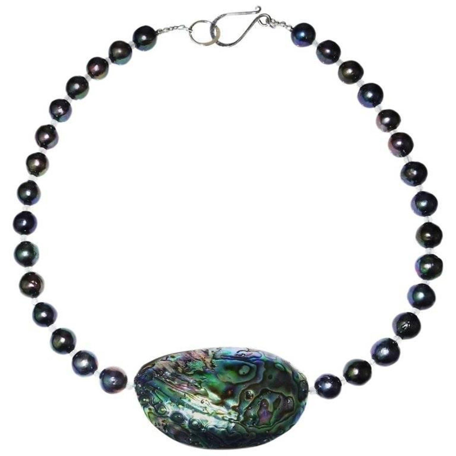 ddc with mosaic paua b blue necklace in shell samuel pendant topaz sterling silver gemstone