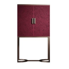 Bluemoon Crimson Bar Cabinet