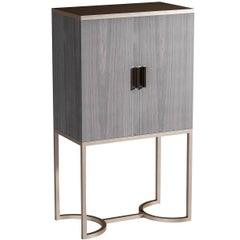 Bluemoon Gray Bar Cabinet