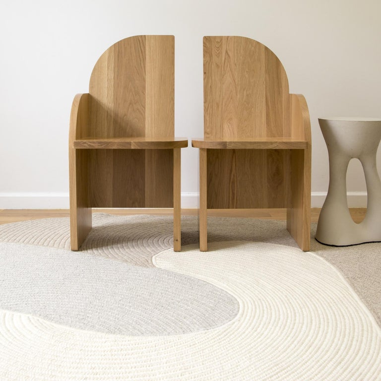 Bluff Side Chair from Souda, Customizable, Oak, Left, Made to Order For Sale 1