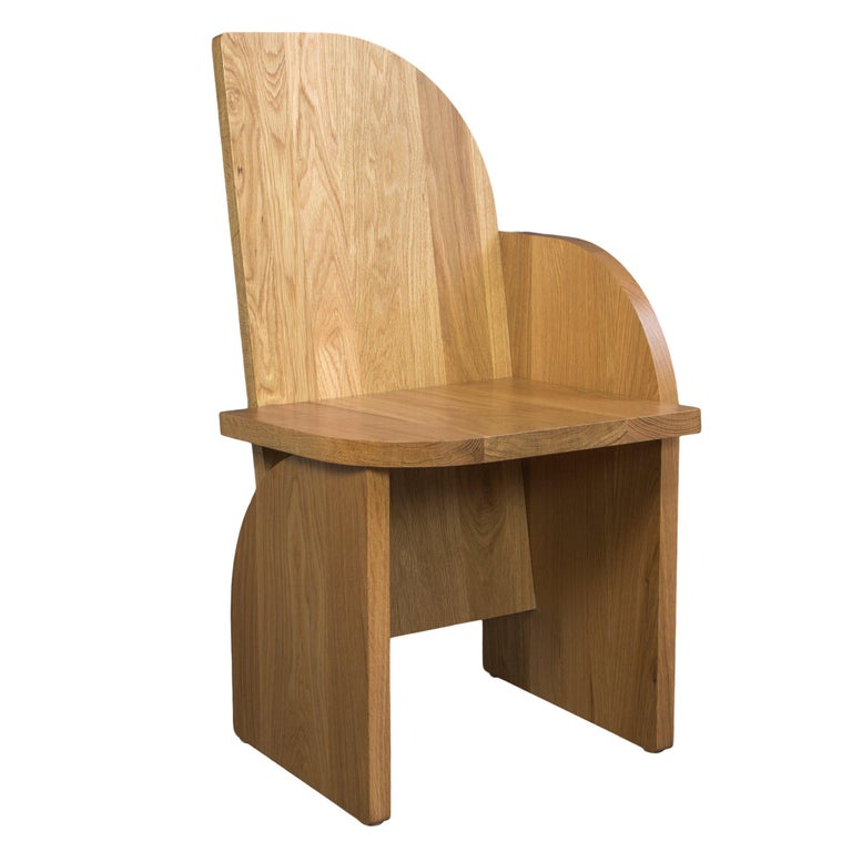 Bluff Side Chair from Souda, Customizable, Oak, Left, Made to Order For Sale