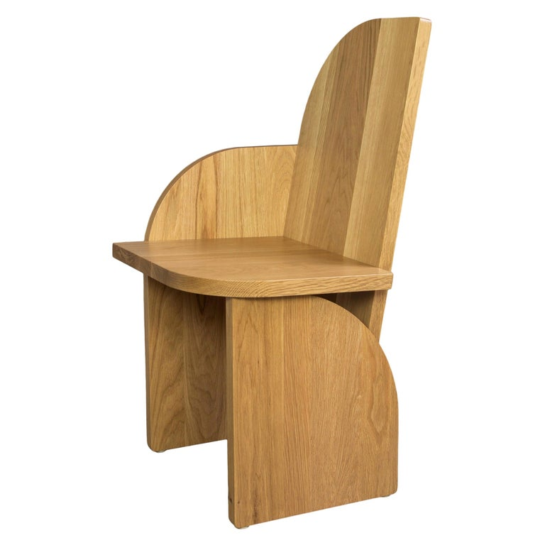 Bluff Side Chair from Souda, Customizable, Oak, Right, Floor Model For Sale