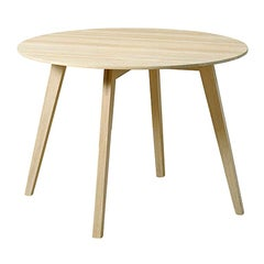 Blum and Balle Circle Side Table, Lacquered Oak