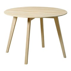 """Blum and Balle Circle Side Table, Laminate and Oak - 26"""""""