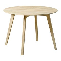 """Blum and Balle Circle Side Table, Stained Oak - 26"""""""
