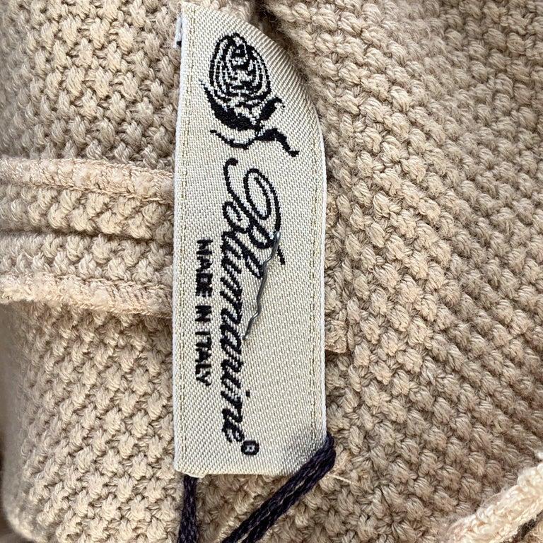 Blumarine Beige Beaded Midi Embellished Dress Set with Jacket For Sale 6