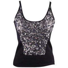 Blumarine Embellished Tank Top with Sequins Size 42