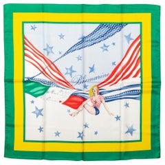 Blumarine Pin Up Flag Silk Scarf