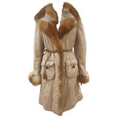 Blur Beije Real Fox Coat