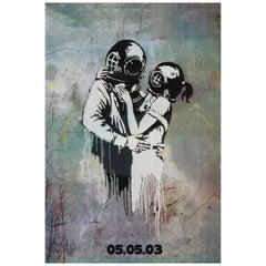 "Blur ""Think Tank"" Original Promotional Poster by Banksy, British, 2003"