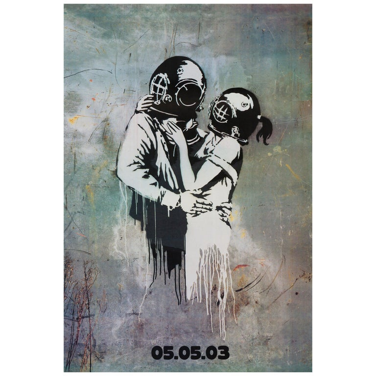 Blur 'Think Tank' Original Bus Stop Promotional Poster by Banksy, British, 2003