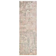 Blush, Contemporary Abstract Hand Loomed Runner Rug, Petal