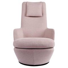Blush Soft Woven High Back Swivel Lounge Chair, Bensen