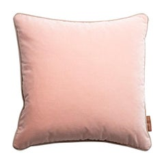 Blush Stuart Scott Pink Cotton Velvet Cushion