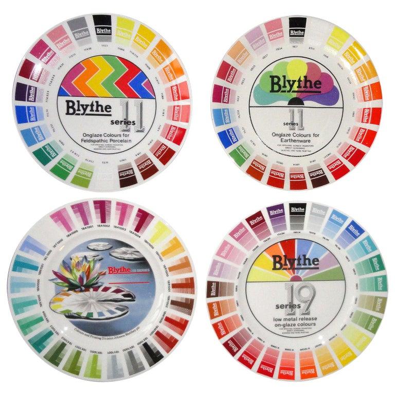 Blythe Factory Artist Color Porcelain Sample Plates '4'