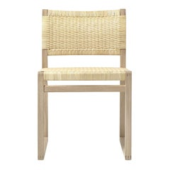 BM 61 Børge Mogensen 61 Dining Chair in Oak and Woven Cane Wicker