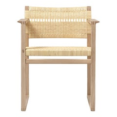 BM 62 Børge Mogensen 62 Armchair in Oak and Woven Cane Wicker