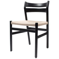 BM1 Chair by Borge Mogensen, Black Lacquered Oak