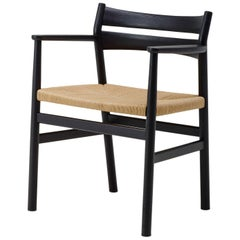 BM2 Chair by Borge Mogensen - Black Lacquered Oak