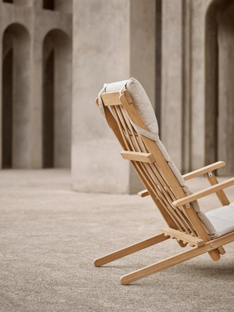 BM4570 Outdoor Dining Chair in Teak by Børge Mogensen For Sale 8
