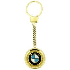BMW 14 Karat Yellow Gold Key Chain Pendant, London, 1998