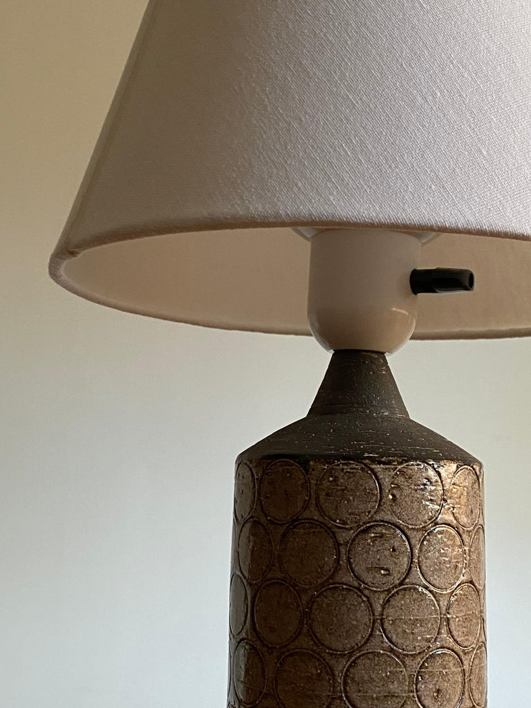 Mid-20th Century Bo Bergström, Table Lamp, Painted Stoneware, for Svensk Form, Sweden, 1950s For Sale