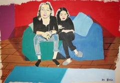 Lloyd n Aisha - original large figurative painting by Bo Bosk