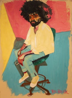 Noah - original figurative portrait painting by Bo Bosk