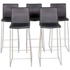 Bo Concept Designer Leather Chair set Black Genuine Leather Bar Stool Armchair