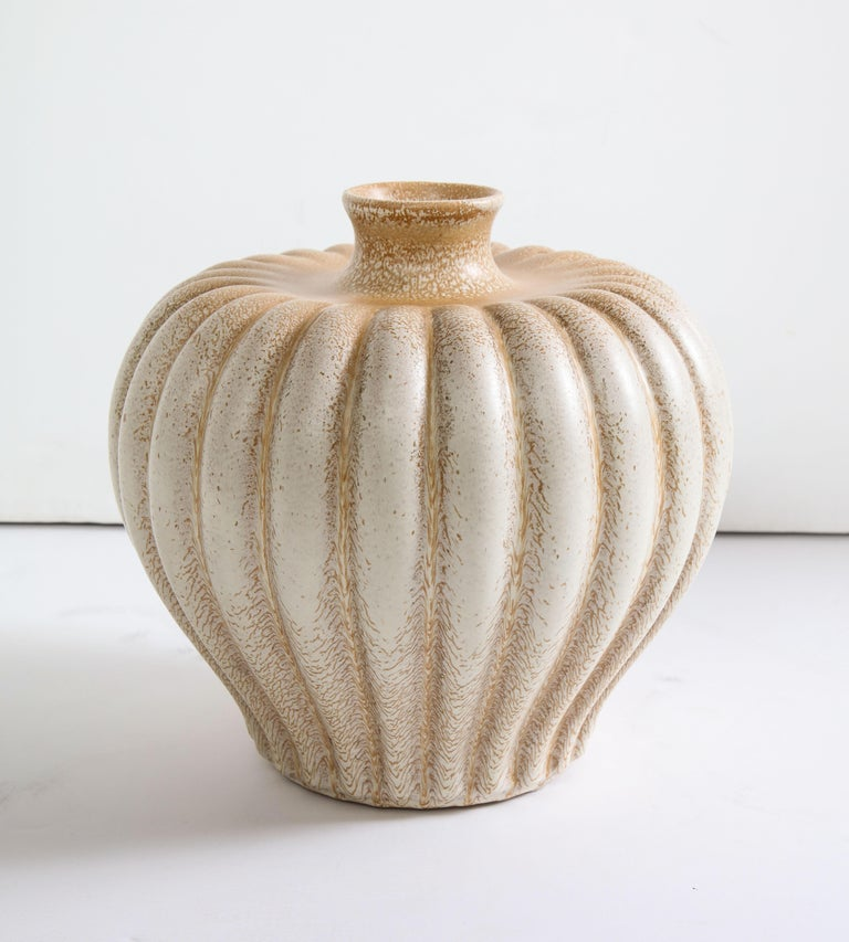 Bo Fajans Pottery Vase Designed by Evald Dahlskog For Sale 7