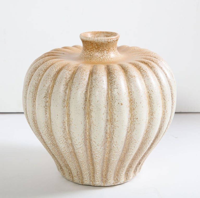 Mid-20th Century Bo Fajans Pottery Vase Designed by Evald Dahlskog For Sale