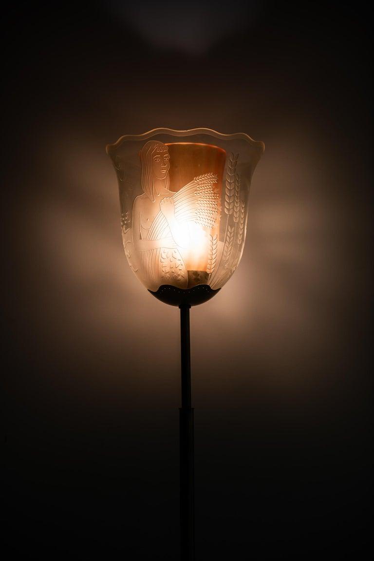 Swedish Bo Notini Floor Lamp Model No G4 Produced by Glössner & Co. in Sweden For Sale